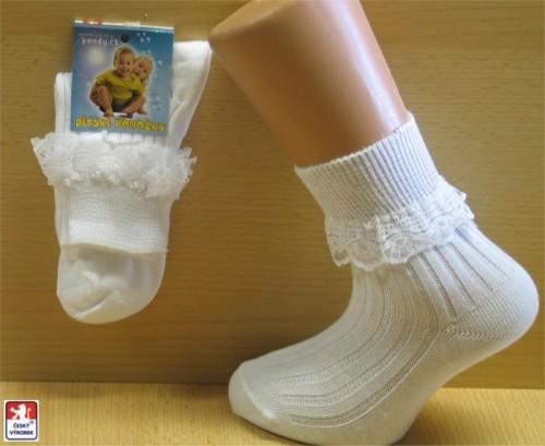 09ac21b5ecf MIMI dětské ponožky PONDY.CZ 100 % bavlna krajkový lem