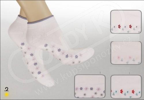Ponožky snížené s kytičkami e83fb28820