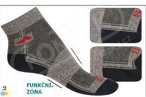 Sportovní kotníkové pánské ponožky e414e5bd48