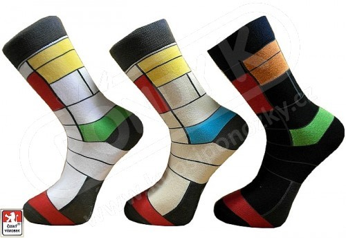 Ponožky PONDY.CZ pánské barevné design