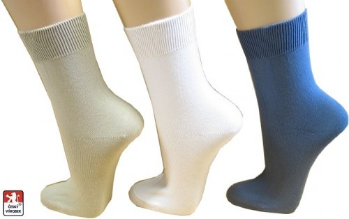 e8dfdf82a69 Dámské ponožky 100% bavlna hladké 37-39