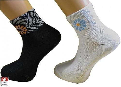 815fff6fc7f Dámské ponožky polofroté vzor KVĚT 37-41 PONDY.CZ
