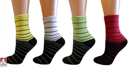 Ponožky dětské PONDY.CZ froté PROUŽKY 24-35 344e0b01b4