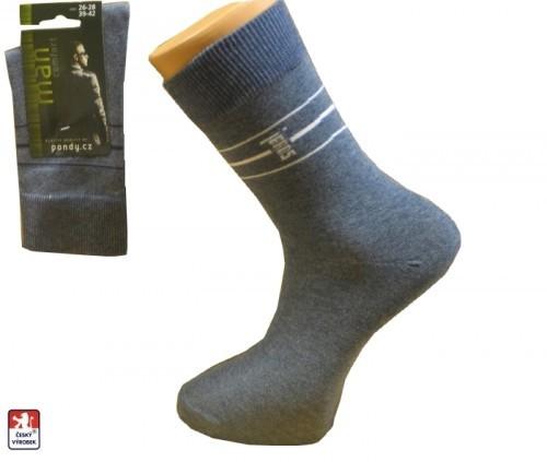 5dc6150974f Pánské ponožky PONDY.CZ ELASTIK JEANS 39-47