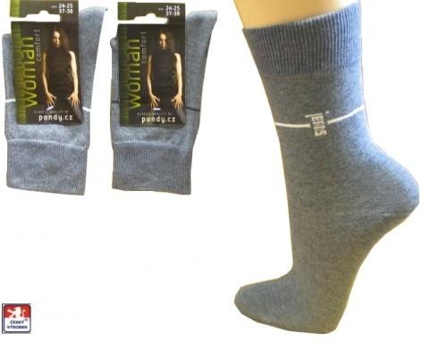 Dámské ponožky PONDY.CZ elastik JEANS 37-41 e2e23f9565