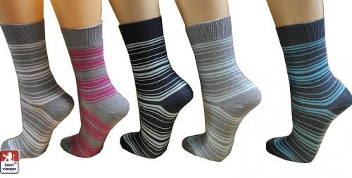 57dee81bf72 Ponožky dámské PONDY.CZ elastické PRUHY jemné melír 37-41
