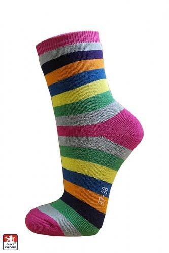 Ponožky dámské froté PRUHY 37-41 PONDY.CZ 56fd502f91