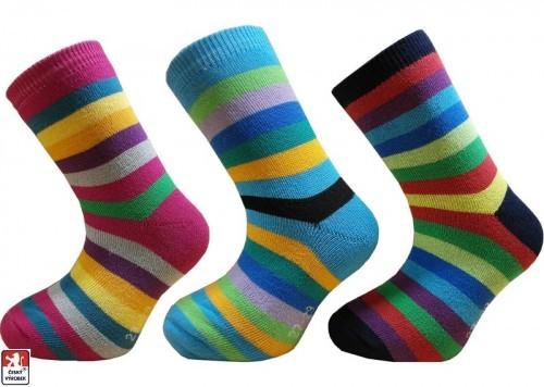 016a451c3c7 Dětské froté ponožky PRUHY PONDY.CZ 24-35