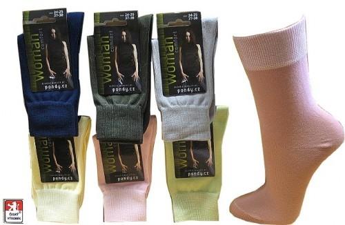 Dámské ponožky PONDY.CZ ELASTIK hladké 37-41 82d94f8a5a