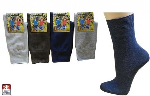 Ponožky PONDY.CZ dámské hladké ELASTIK 35-39 9f602d8247