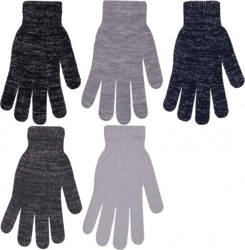 Rukavice dámské prstové s lesklou nití eaa1ee7d65
