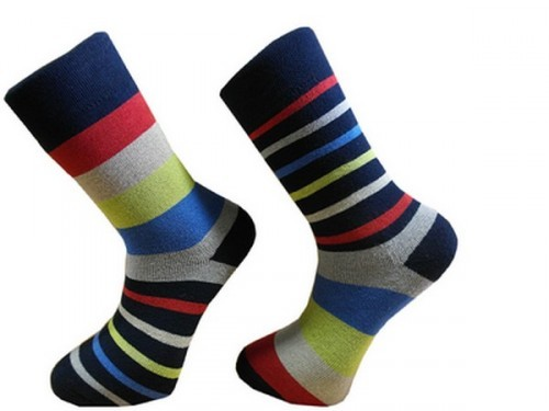 eb7fa61ca7 Ponožky pánské froté design barevné PRUHY